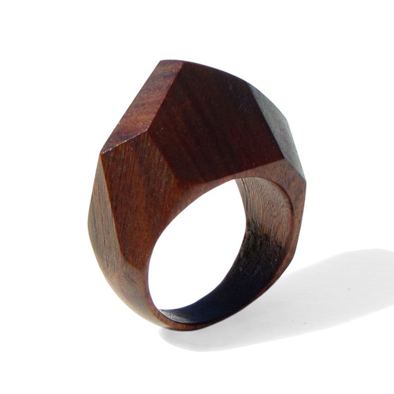 Etsy finds the niki diamond a gem palissander wood ring for Design your own wooden ring